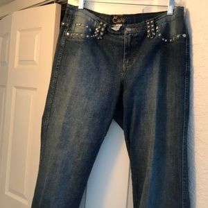 ⭐️NEW LIST⭐️CACHE JEANS SZ 10 with RHINESTONES